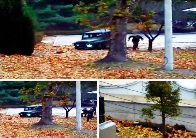 한겨레 23일자 1면 사진.