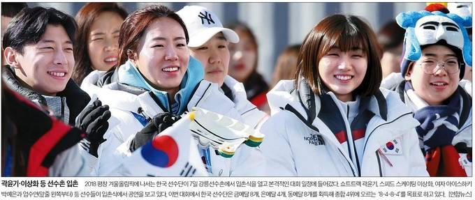 2월7일자 중앙일보 1면 사진.