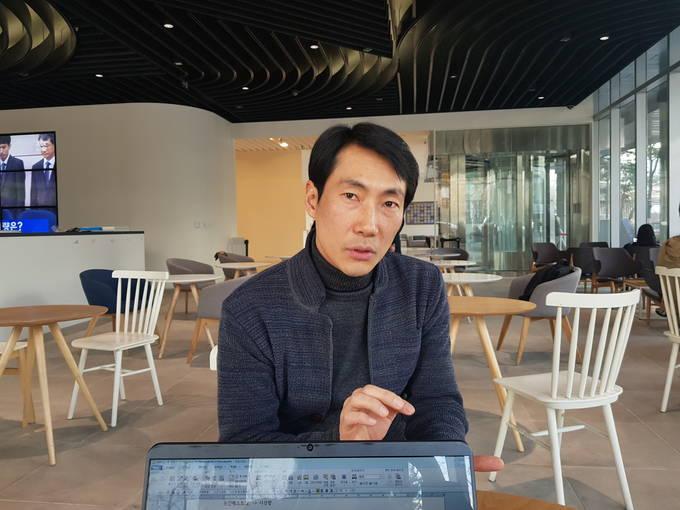 지난 26일 서울 상암동 JTBC 사옥에서 만난 내러티브혁신팀장 임진택 탐사플러스팀 기자.