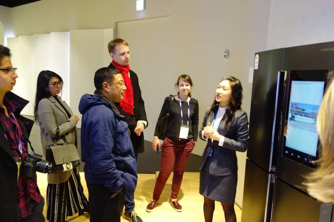 6일 오후 삼성 이노베이션 뮤지엄에 방문한 세계기자들이 차세대 기술혁신 문화에 감탄을 연발했다.