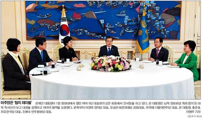 국민일보 8일자 1면 사진 캡처.