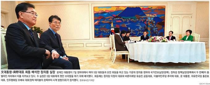 동아일보 8일자 1면 사진 캡처.