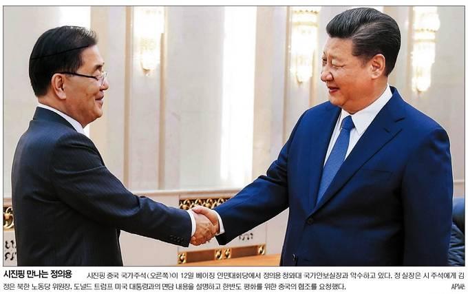 13일자 국민일보 1면 사진.