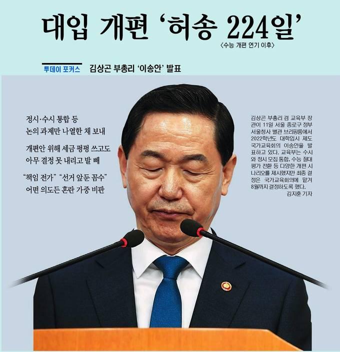 국민일보 4월 12일 1면 사진