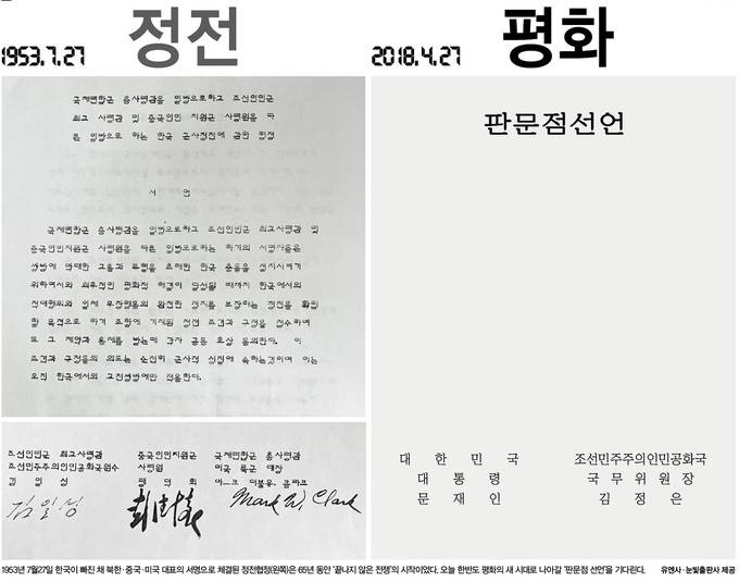한겨레신문 27일자 1면사진 캡처.