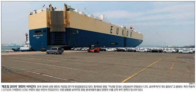 5월1일자 조선일보 1면 사진 캡처.